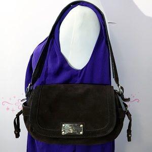 Kate Spade Chocolate Brown Suede shoulder bag